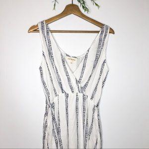 Anthro- Cloth & Stone- White Mini Dress w/ Pockets